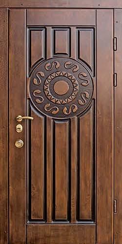 входные двери патина